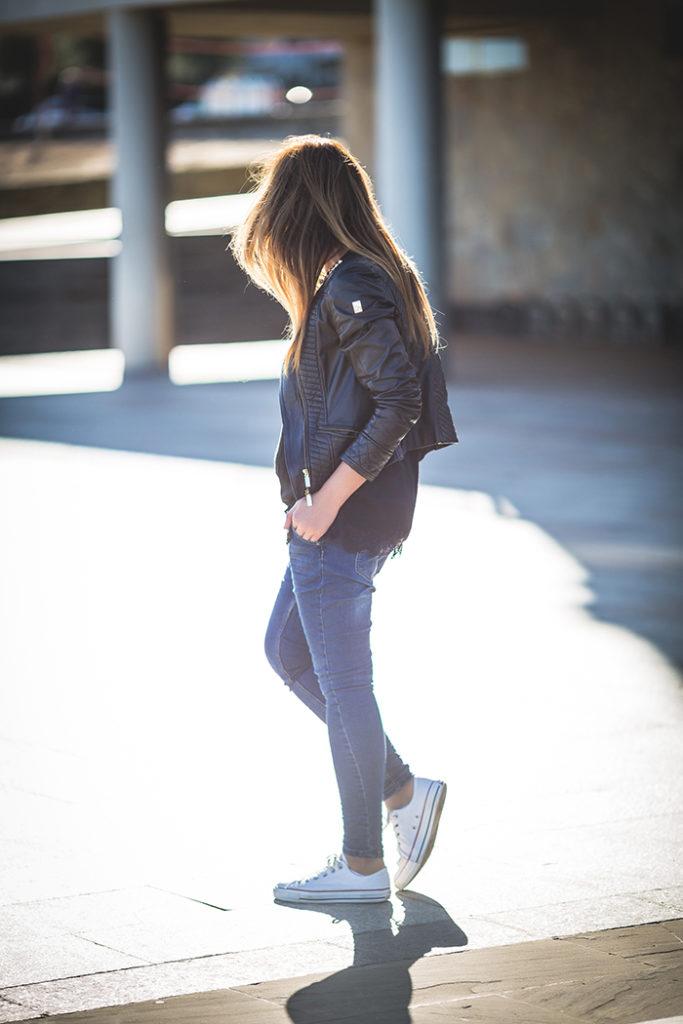 Biker , Lencero , Top , es cuestión de estilo , Lucía Díez ,Converse , Personal Shopper , Baggy .