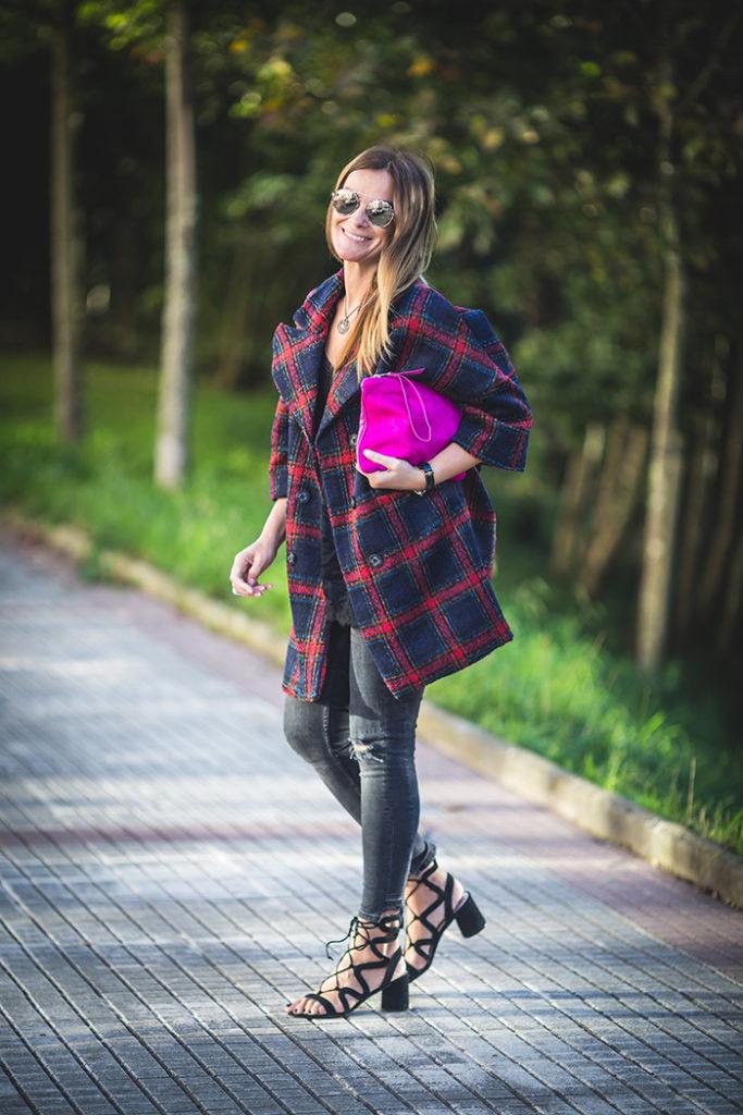 Abrigo Cuadros , Personal Shopper , Lucía Díez , Es cuestión de estilo