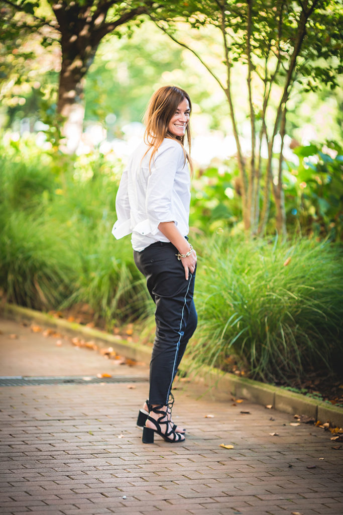 Camisa Blanca , Pantalón vestir Baggy ,Estilo , Básicos , Personal Shopper , Lucía Díez