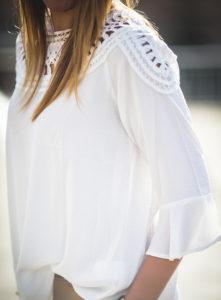 Camisa Blanca Volante