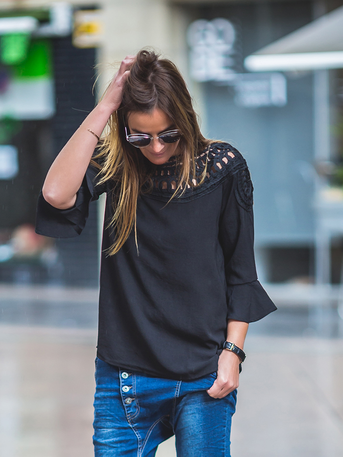 Es cuestión de estilo , Personal Shopper , Lucía Díez , Camisa Negra , encaje ,Shop online