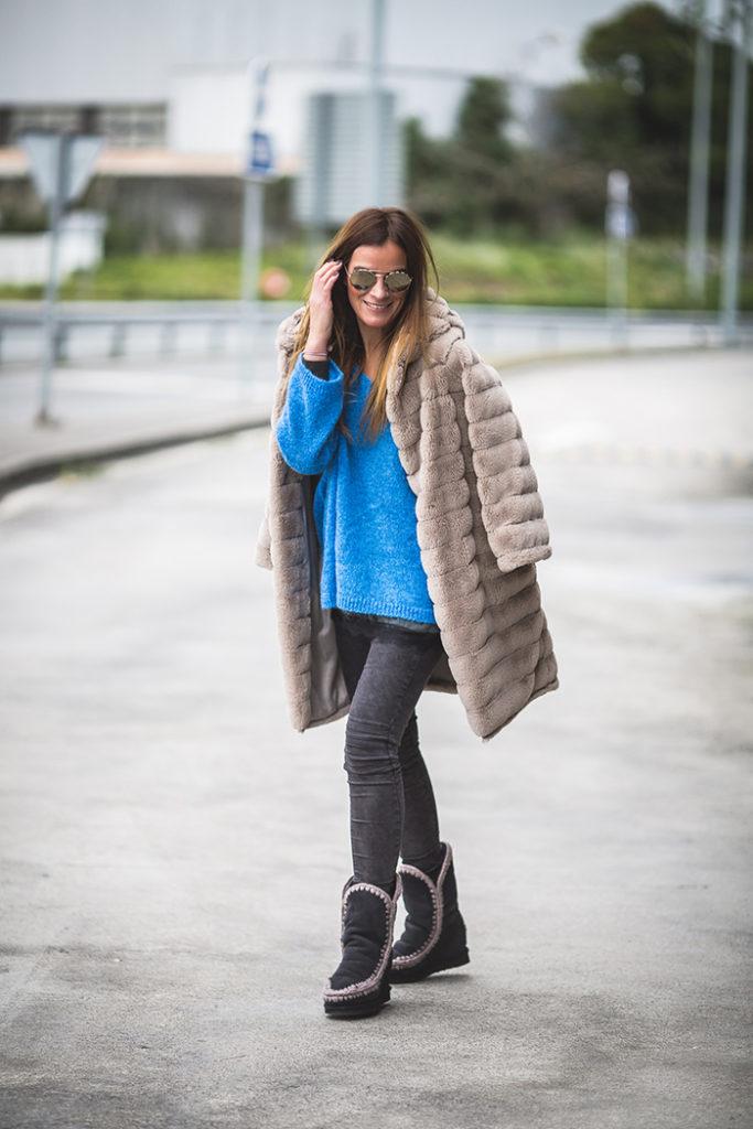 Jersey Oversize , Es cuestión de estilo , Personal Shopper , Lucía Díez  ,Jersey azulón , Tendencia Oversize , tendencia 2018 , The Amity Company,