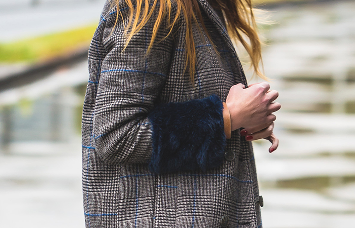 Abrigo cuadros, es cuestion de estilo , escuestiondestilo , personal shopper , Lucía Díez , style , estilo .