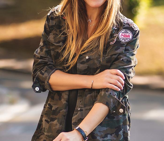 Chaqueta Militar, Lucía Díez,Personal Shopper, Look Militar,Short,