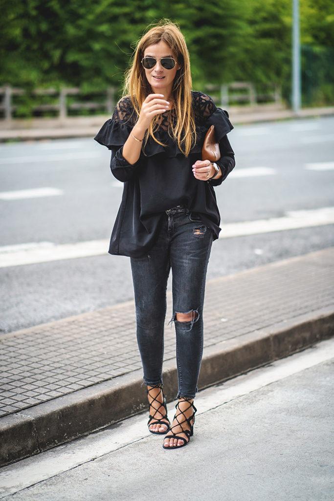 encaje y volantes ,Lucía Díez,Personal Shopper ,sandalias