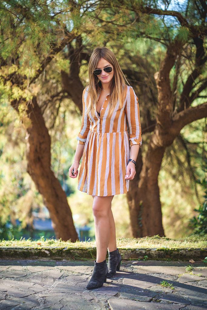 vestido mostaza, mostaza, streetstyle, personalshopper, Lucía Díez, Es cuestión de estilo. On Parle de Vous ,Frnch