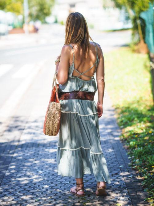 Vestido Largo Detalle Ganchillo