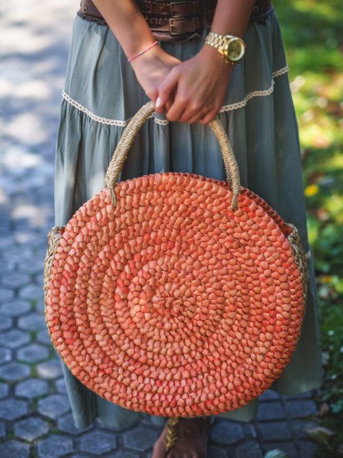 Capazo Redondo Naranja