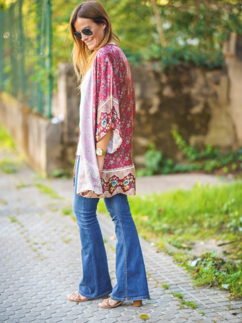 Kimono Rojo Seda