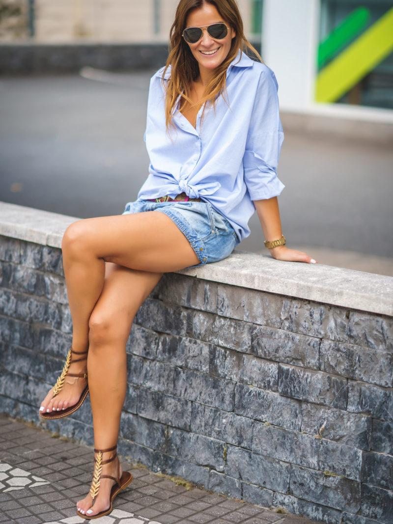 Camisa Oversize Azul