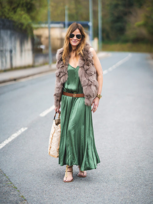Vestido Verde Tirantes