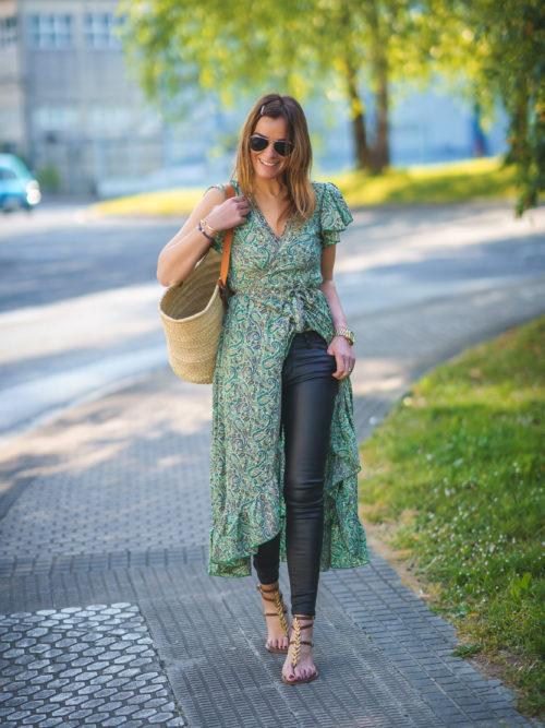 Vestido Pareo Verde Cachemir